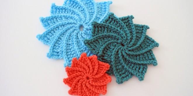 crochet spiral flower