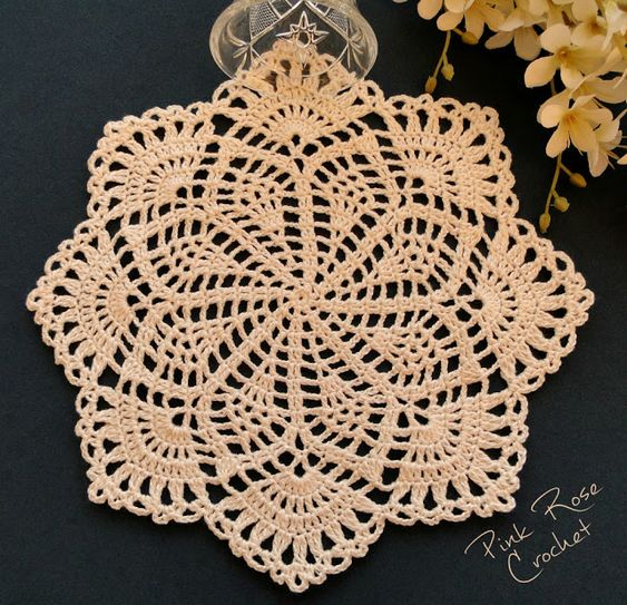 crochet spring song doily 1