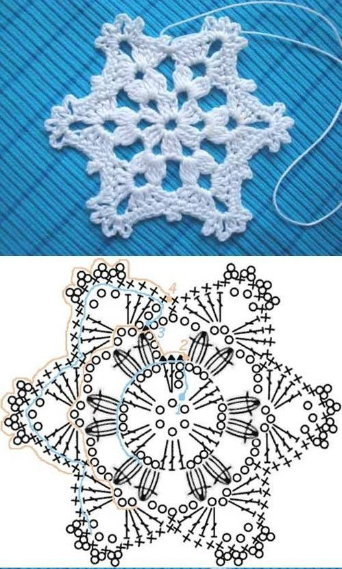 crochet star flower 1 1