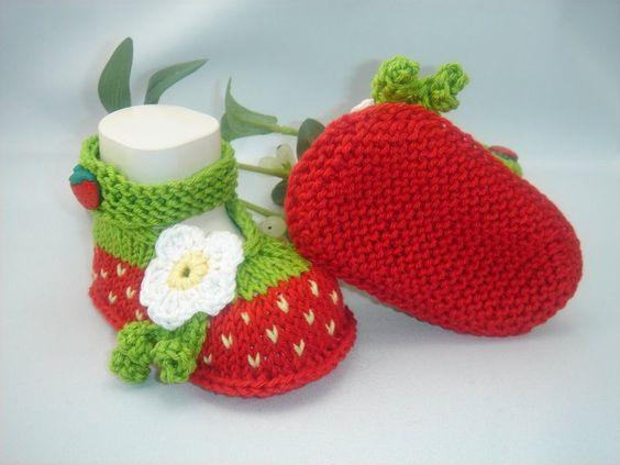crochet strawberry booties 7