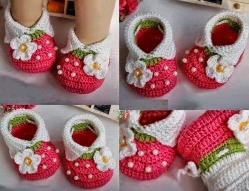 crochet strawberry booties 9