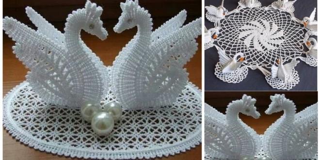 crochet swan