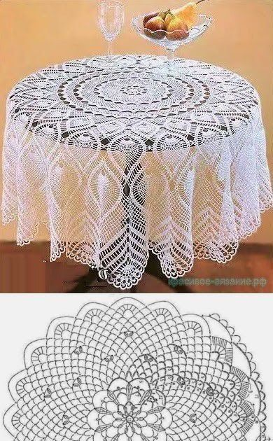 crochet tablecloths ideas graphics 6