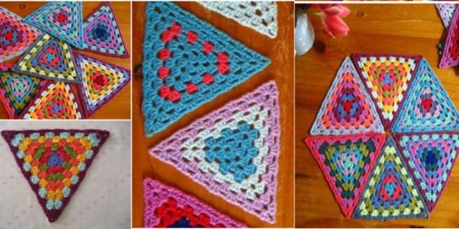 crochet triangle granny