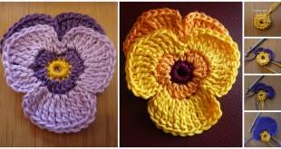 crochet violets