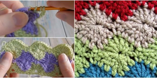 crochet wheel starburst