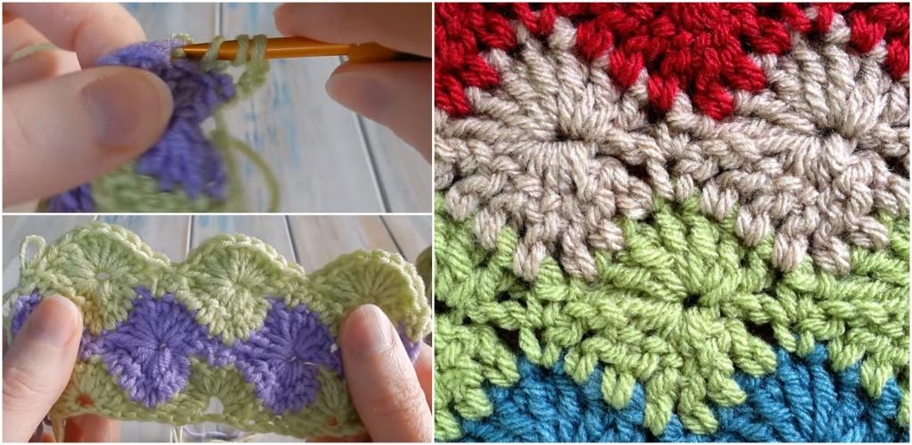 How To Crochet Catherine Wheel Starburst Stitch