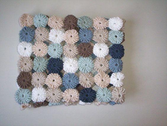 crochet yo yo flower stitch 1