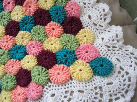 crochet yo yo flower stitch 2