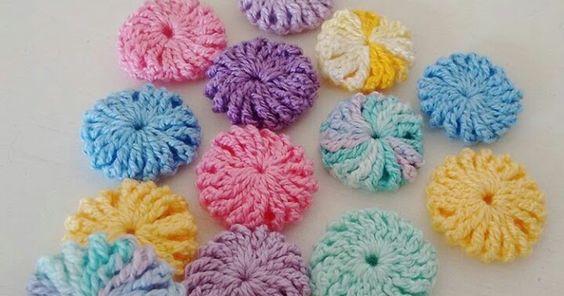 crochet yo yo flower stitch 3