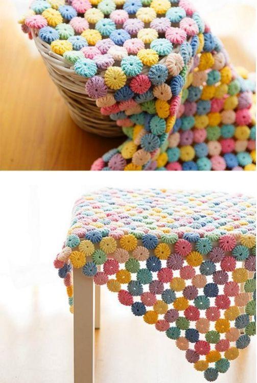 crochet yo yo flower stitch 4