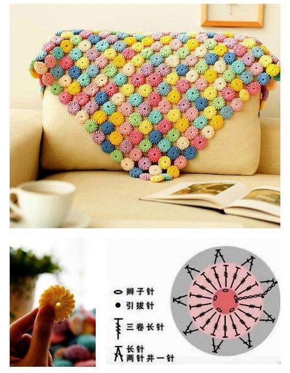 crochet yo yo flower stitch 9