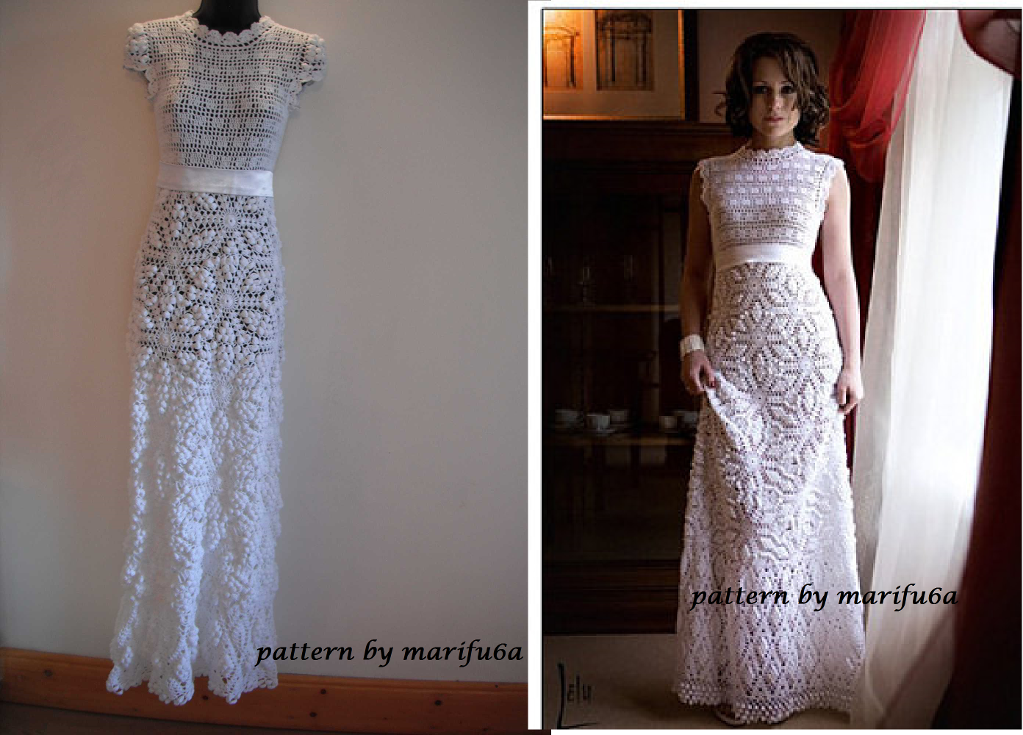 How to Crochet Wedding Dress (Free Pattern Tutorial)