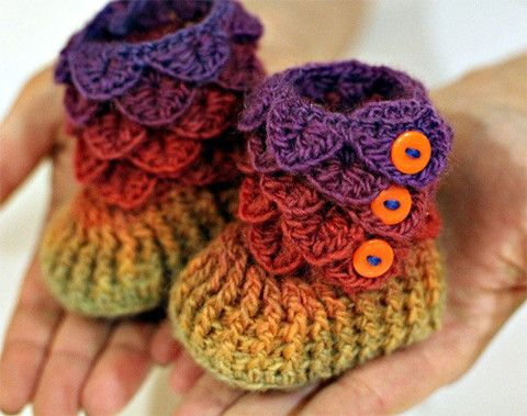 crocodile stitch crochet boots 3