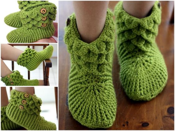 crocodile stitch crochet boots 4