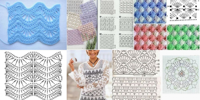 different crochet stitches step by step