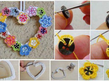 diy Crochet Button Flowers 1