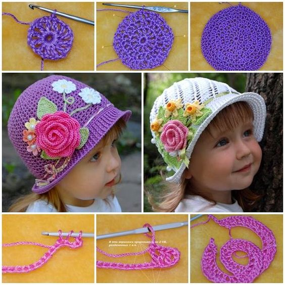 diy Crochet Panama Hat Girls 1