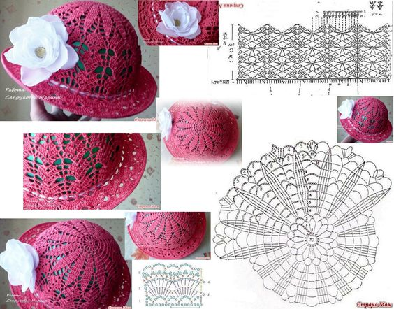 diy Crochet Panama Hat Girls 5