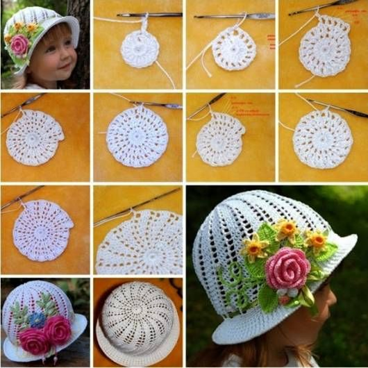 diy Crochet Panama Hat Girls