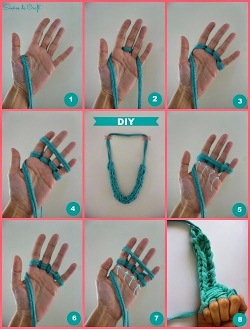 diy Finger Knitted Bracelets 1