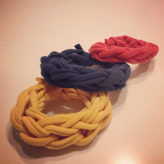 diy Finger Knitted Bracelets 4