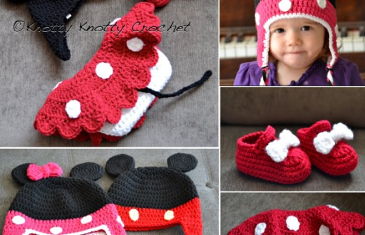 diy crochet minnie little mouse hat and shoes pattern