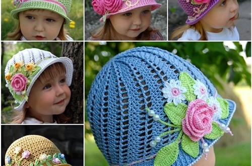 diy crochet pretty panama hat for girls