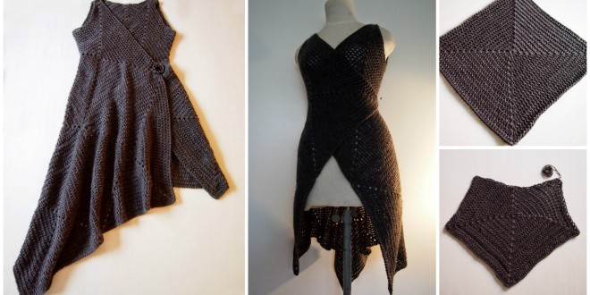 dress crocheted squares