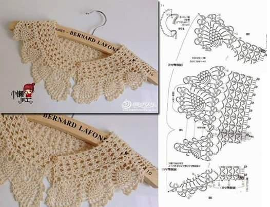 easy crocheted collar patterns 1