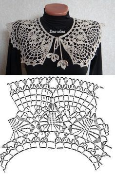 easy crocheted collar patterns 5