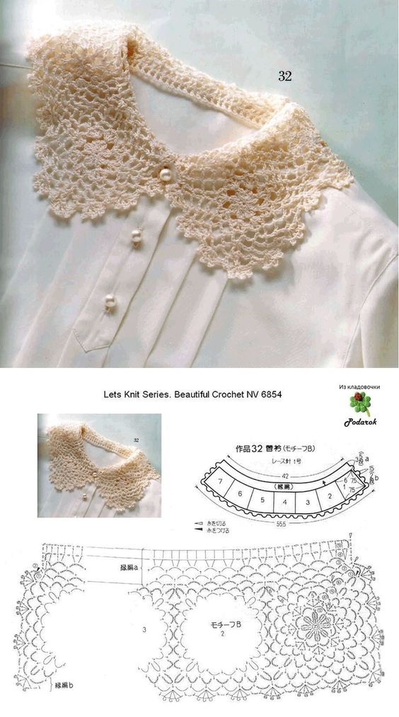 easy crocheted collar patterns 6