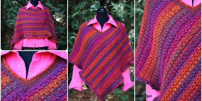 effortless poncho crochet