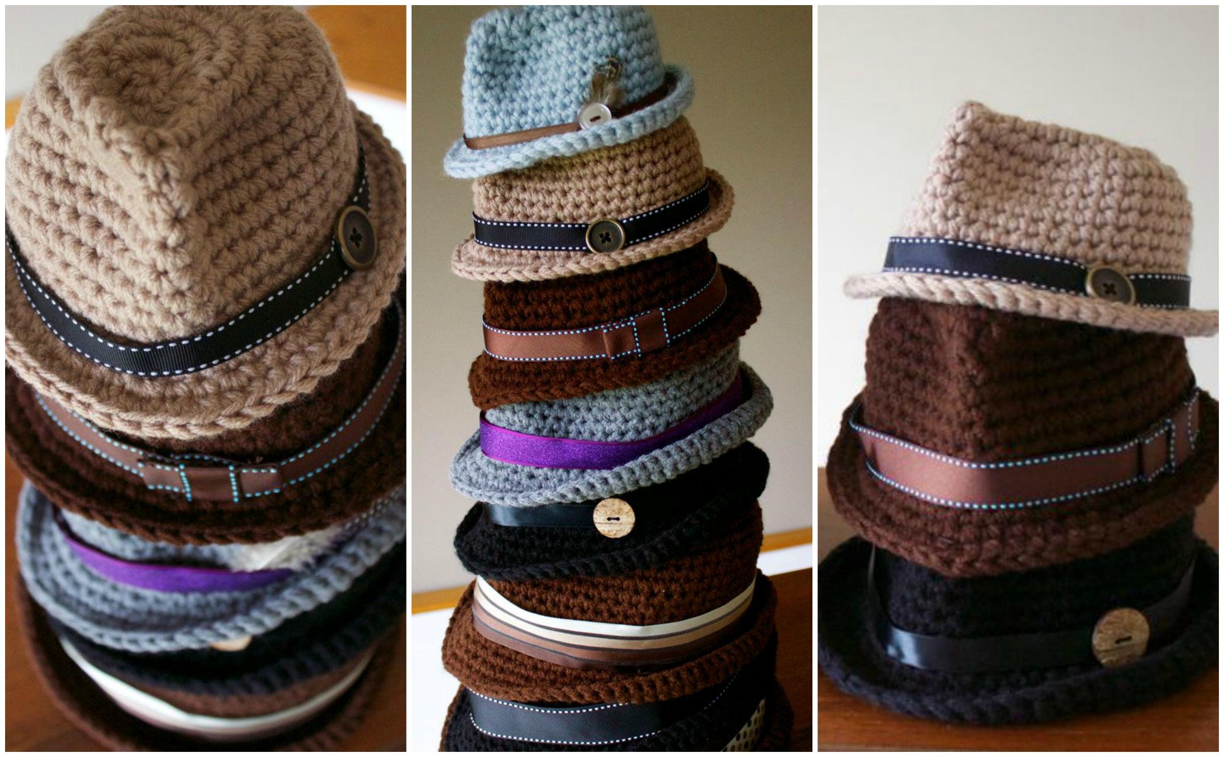 60056346dfc How To Crochet Classic Fedora Hat