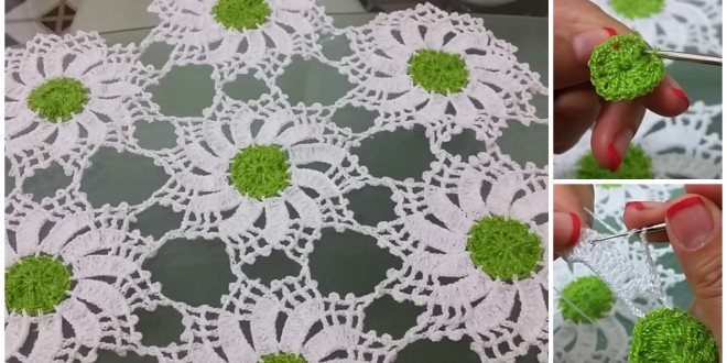 flower motif tablecloth