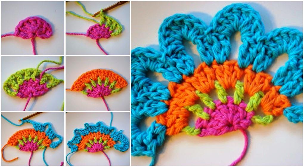 Crochet Beautiful Flower Valance