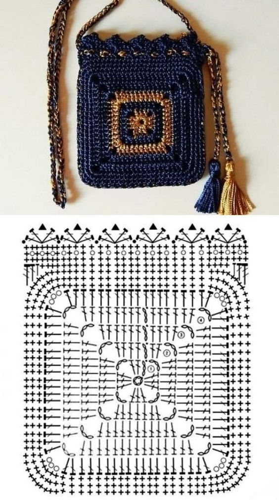 granny square bag crochet tutorial 1