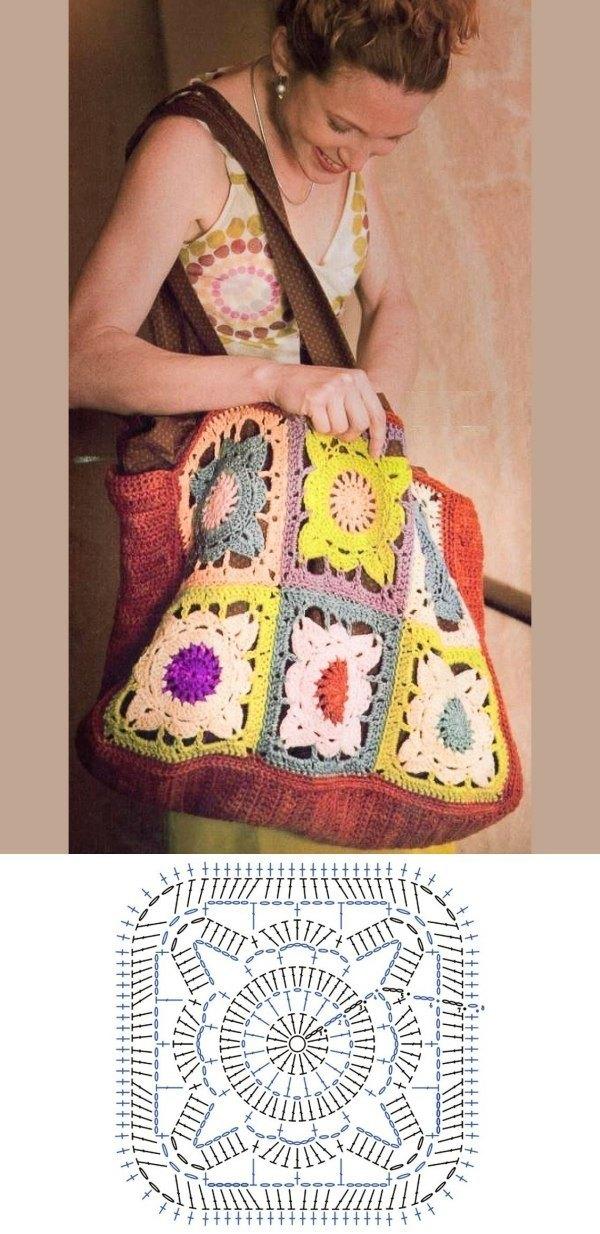 granny square bag crochet tutorial 3