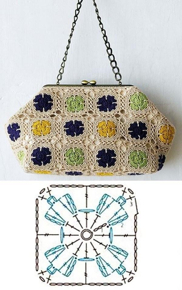 granny square bag crochet tutorial 4