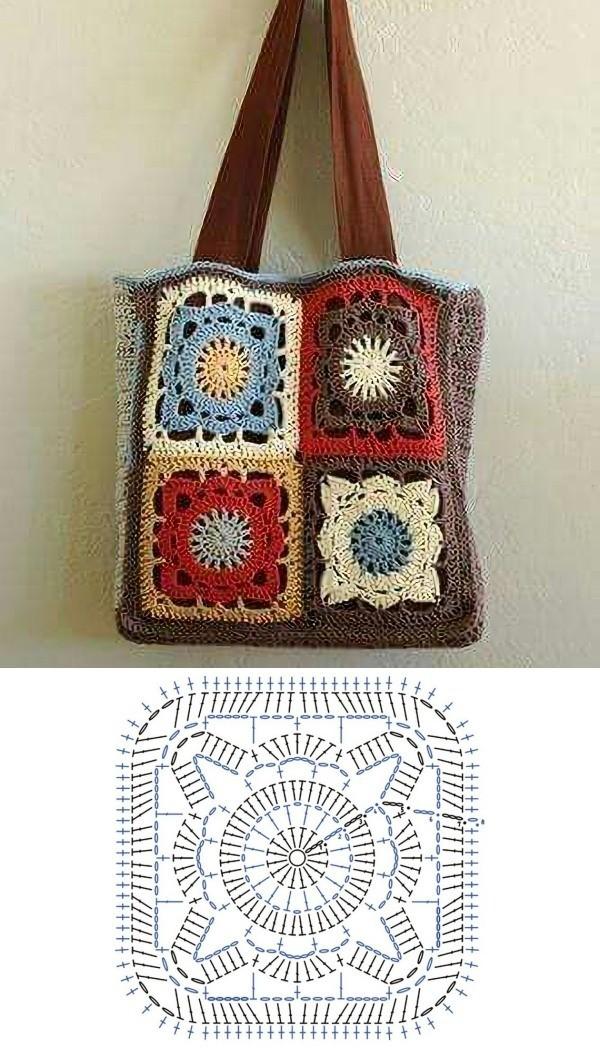 granny square bag crochet tutorial 5