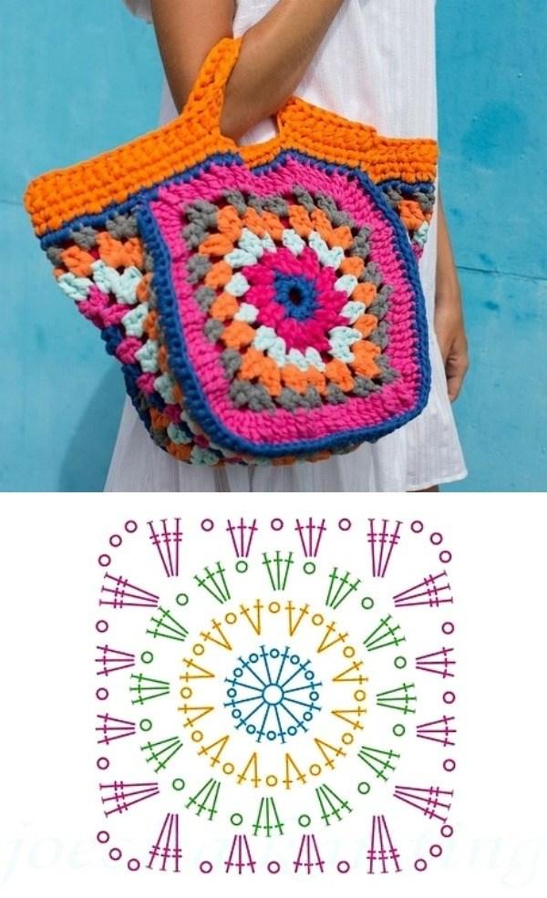 granny square bag crochet tutorial 6