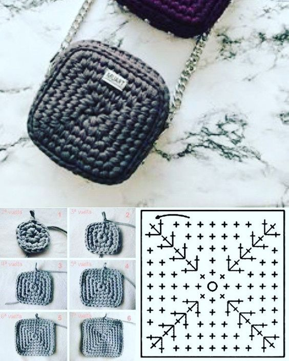 granny square bag crochet tutorial 7
