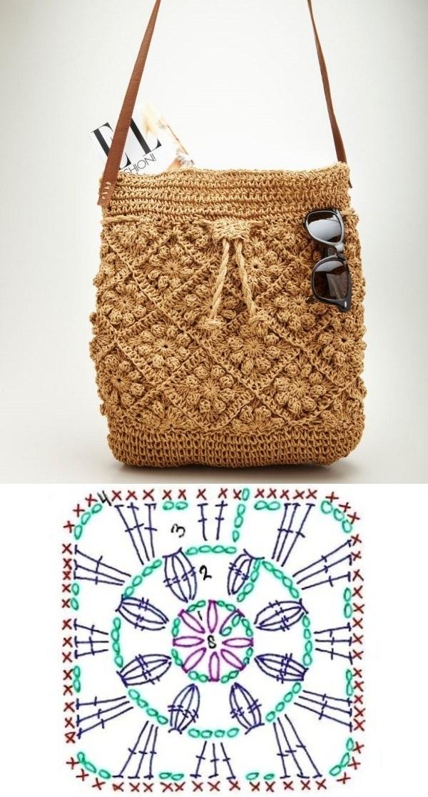 granny square bag crochet tutorial 8