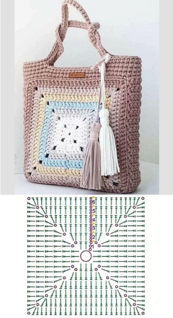 granny square bag crochet tutorial 9