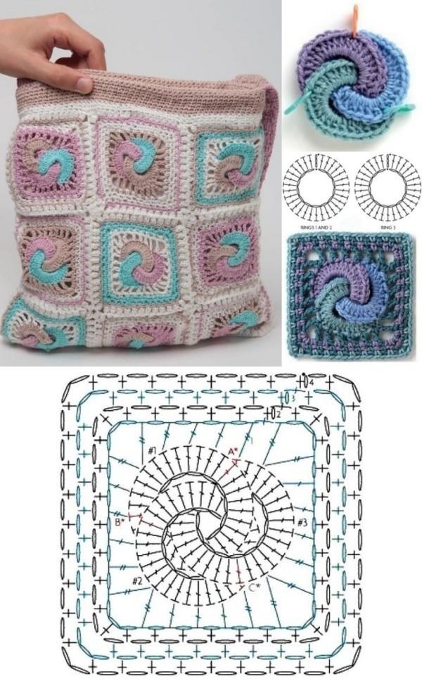 granny square bag crochet tutorial