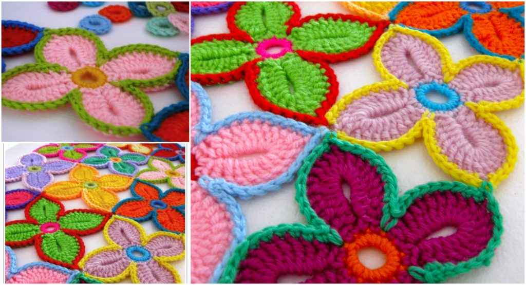 Crochet Hawaiian Flowers