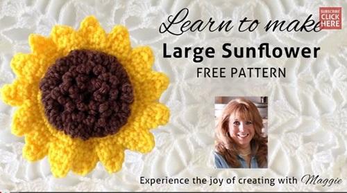how-to-crochet-Sunflower