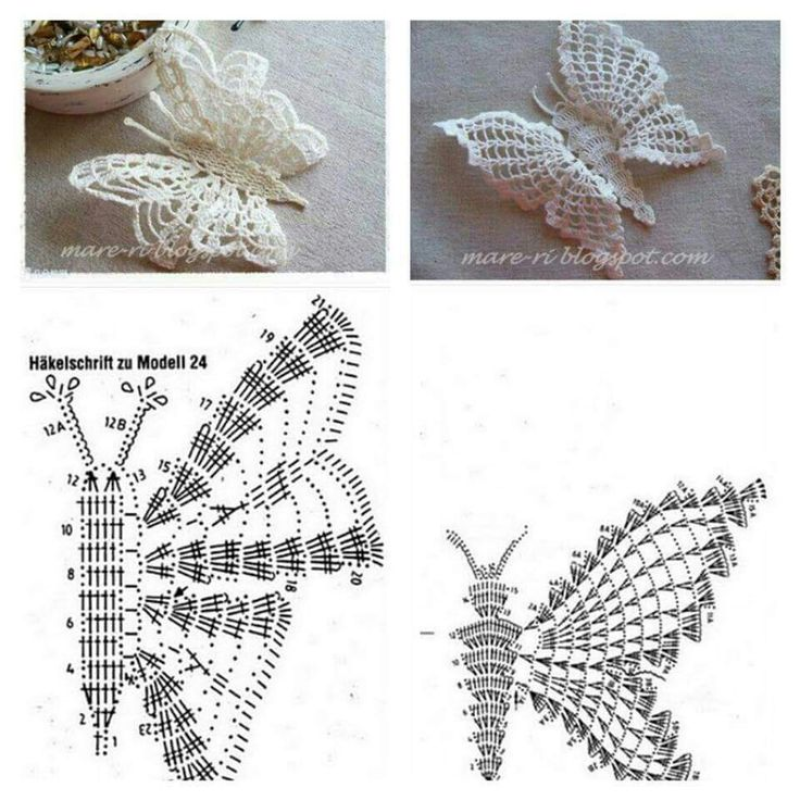 how to crochet a butterfly step by step 4
