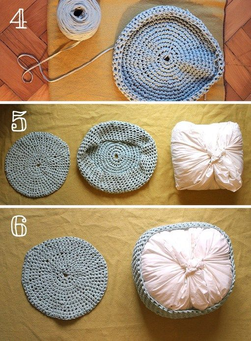 how to crochet a floor pouf 1
