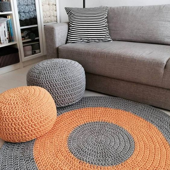how to crochet a floor pouf 3